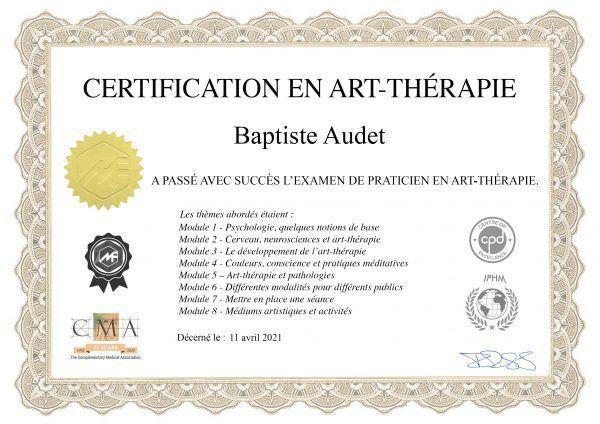 Baptiste Audet photographe art thérapie lyon